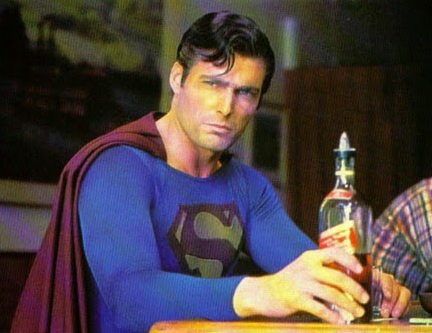 Superman drunk